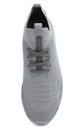 Женские текстильные кроссовки PRADA серого цвета, арт. 3E6442-3KFP-F0276-10 | Фото 4