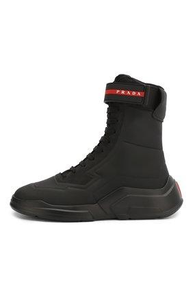 Женские ботинки PRADA черного цвета, арт. 3T6444-HEC-F0002-10 | Фото 2