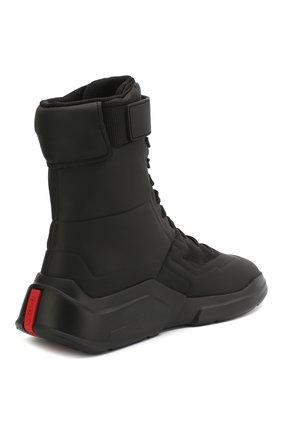 Женские ботинки PRADA черного цвета, арт. 3T6444-HEC-F0002-10 | Фото 3