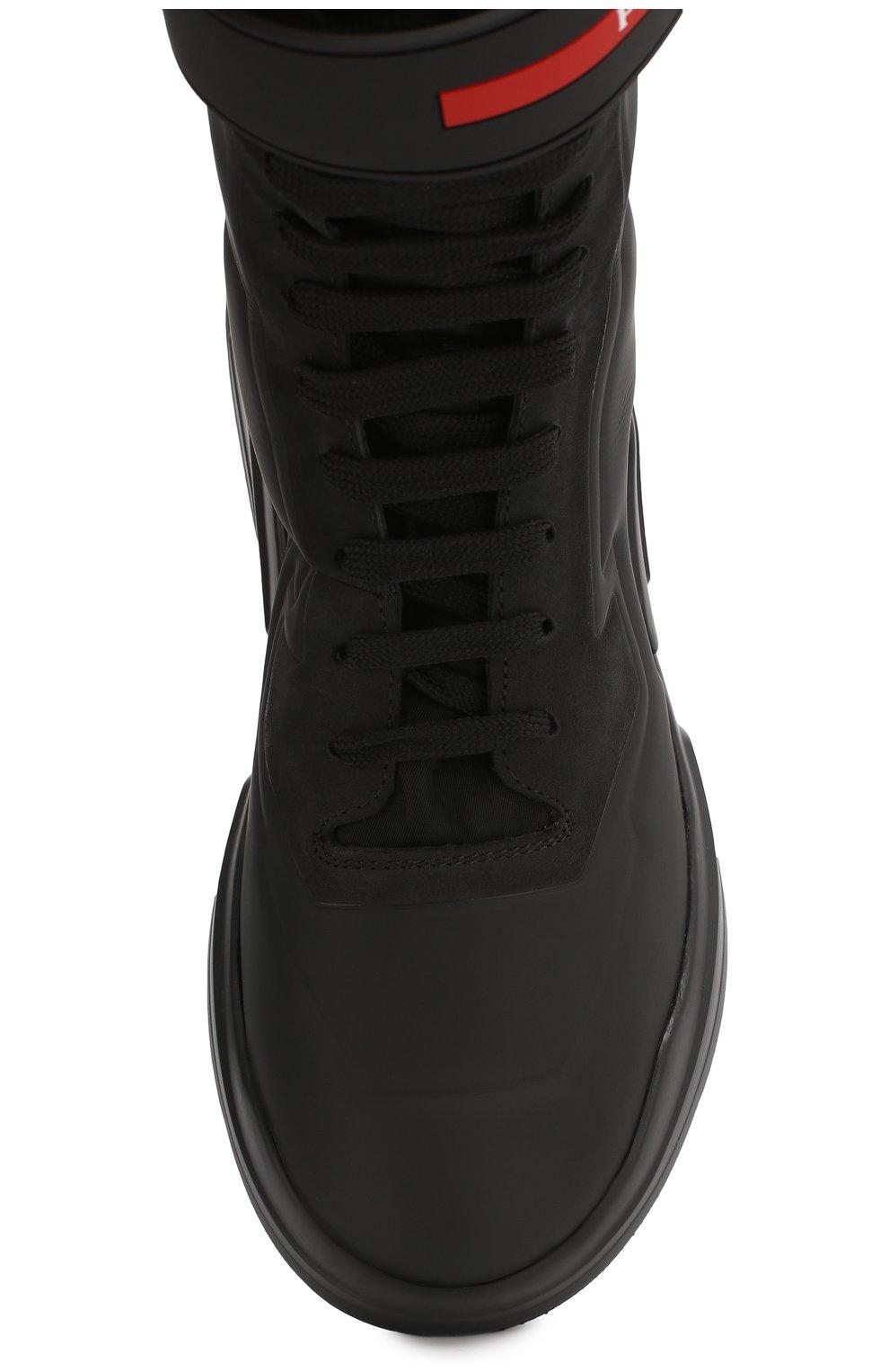 Женские ботинки PRADA черного цвета, арт. 3T6444-HEC-F0002-10 | Фото 4