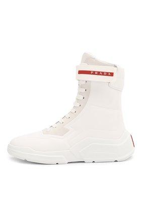 Женские ботинки PRADA белого цвета, арт. 3T6444-HEC-F0009-10 | Фото 2