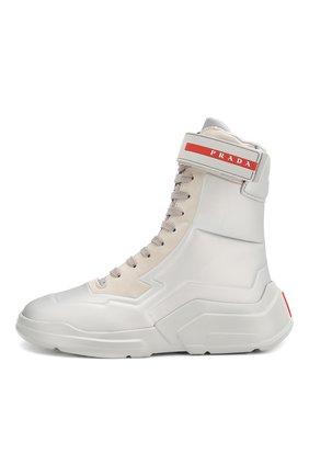 Женские ботинки PRADA серого цвета, арт. 3T6444-HEC-F0518-10 | Фото 2