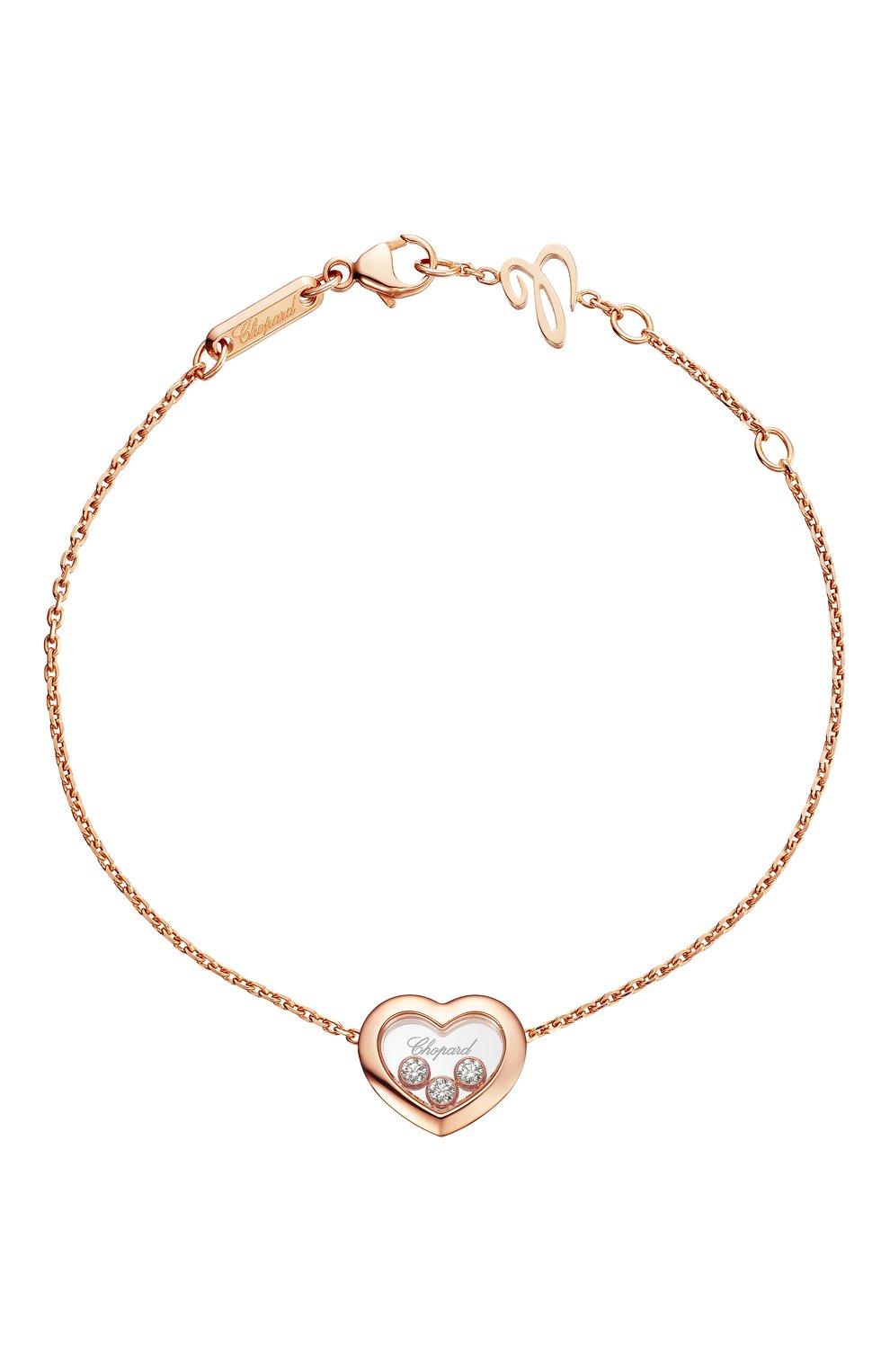 Женские браслет CHOPARD розового золота цвета, арт. 85A611-5001 | Фото 1
