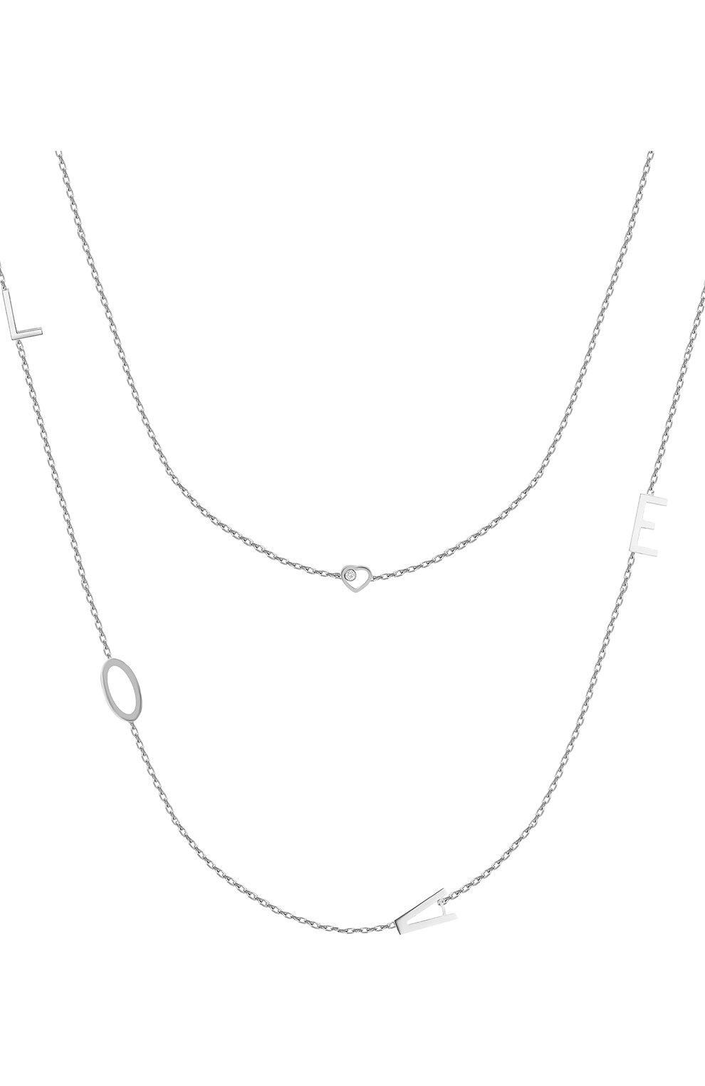 Женские колье CHOPARD белого золота цвета, арт. 819214-1001 | Фото 1