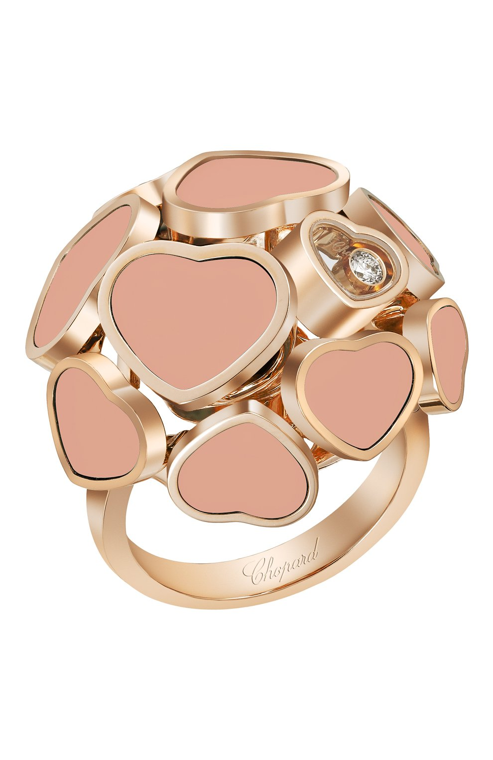 Женские кольцо CHOPARD розового золота цвета, арт. 827482-5610 | Фото 1