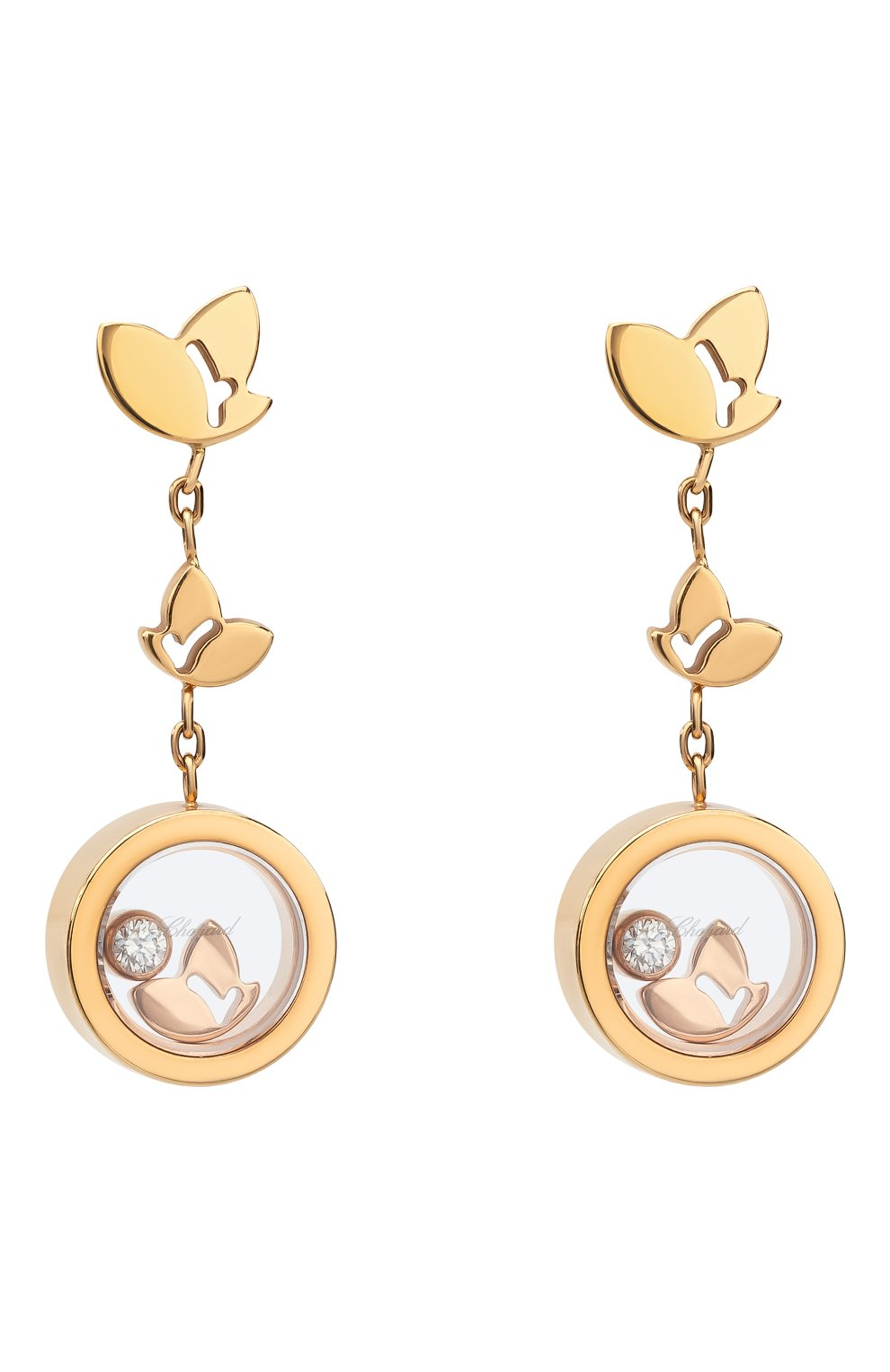 Женские серьги CHOPARD розового золота цвета, арт. 837350-5001 | Фото 1