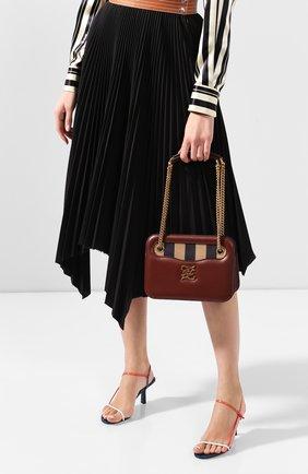 Женская сумка kalligraphy pocket FENDI бордового цвета, арт. 8BT318 AAFG | Фото 2