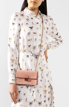 Женская сумка kan mini FENDI розового цвета, арт. 8M0435 A5DY | Фото 2