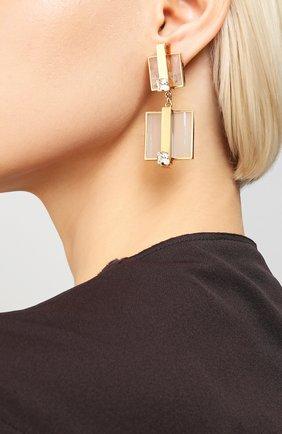 Женские серьги CRYSTALLINE JEWELLERY золотого цвета, арт. 355C | Фото 2