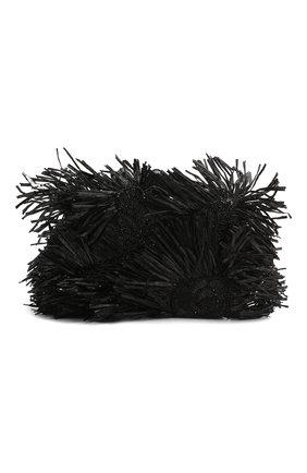 Женский клатч rogan OSCAR DE LA RENTA черного цвета, арт. 20SH709SAT | Фото 1
