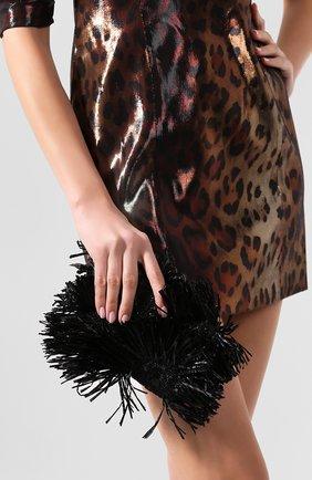Женский клатч rogan OSCAR DE LA RENTA черного цвета, арт. 20SH709SAT | Фото 2