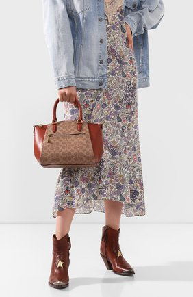 Женская сумка elise COACH коричневого цвета, арт. 79364 | Фото 2