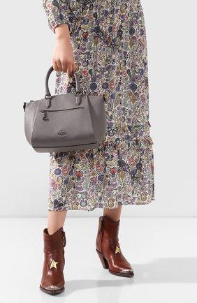 Женская сумка elise COACH серого цвета, арт. 79316 | Фото 2