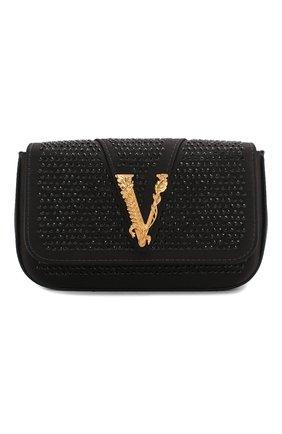 Женская сумка virtus VERSACE черного цвета, арт. DBFH209/D2RASS | Фото 1