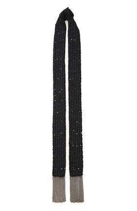 Женский шарф FLOWER ME черного цвета, арт. SCARF-NS018010L   Фото 1