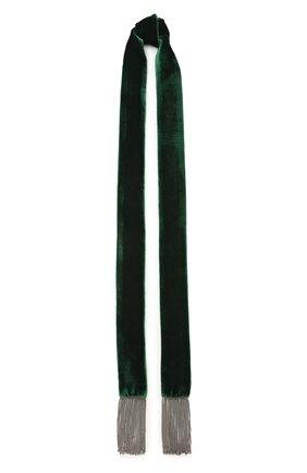 Мужские шарф FLOWER ME зеленого цвета, арт. SCARF-VT008010L | Фото 1