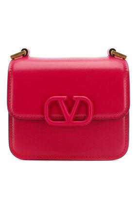 Женская сумка vsling micro VALENTINO фуксия цвета, арт. TW0B0G44/HFB   Фото 1 (Сумки-технические: Сумки через плечо; Материал: Натуральная кожа; Размер: mini; Ремень/цепочка: На ремешке)