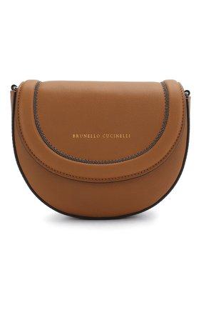 Женская поясная сумка BRUNELLO CUCINELLI коричневого цвета, арт. MBLPD2018   Фото 1
