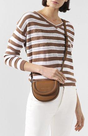 Женская поясная сумка BRUNELLO CUCINELLI коричневого цвета, арт. MBLPD2018   Фото 2
