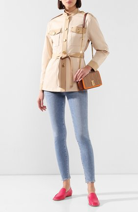Женские кожаные лоферы TOD'S фуксия цвета, арт. XXW77C0CZ9000N | Фото 2