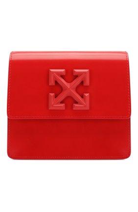 Женская поясная сумка 0.7 jitney OFF-WHITE красного цвета, арт. 0WNA093S20LEA0012500 | Фото 1