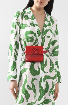 Женская поясная сумка 0.7 jitney OFF-WHITE красного цвета, арт. 0WNA093S20LEA0012500 | Фото 2