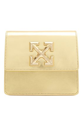 Женская поясная сумка 0.7 jitney OFF-WHITE золотого цвета, арт. 0WNA093S20LEA0047600 | Фото 1