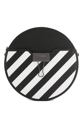 Женская сумка diag OFF-WHITE черного цвета, арт. 0WNA110S20LEA0011001 | Фото 1