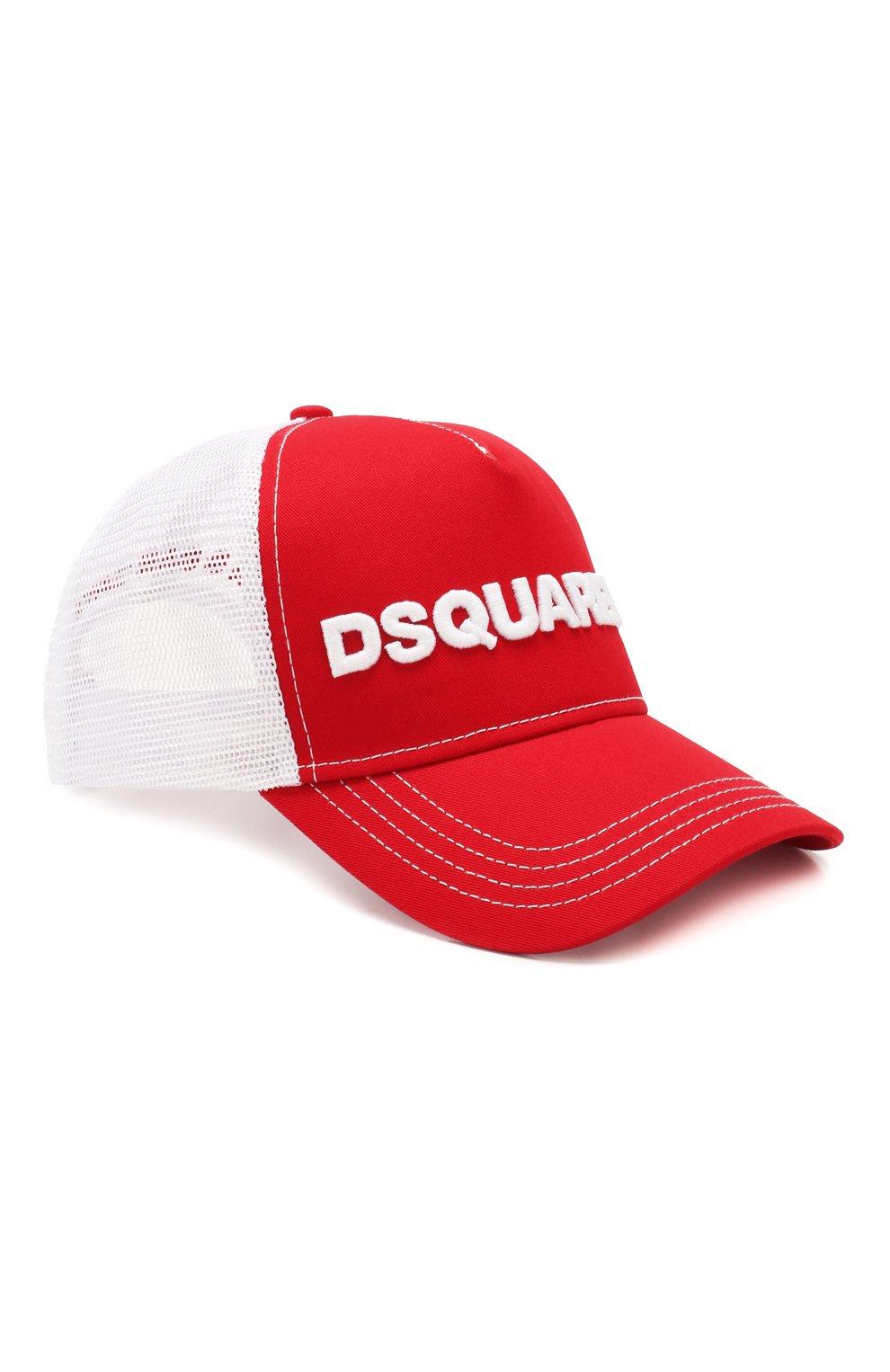 Женская бейсболка DSQUARED2 красного цвета, арт. BCM0028 13550001 | Фото 1