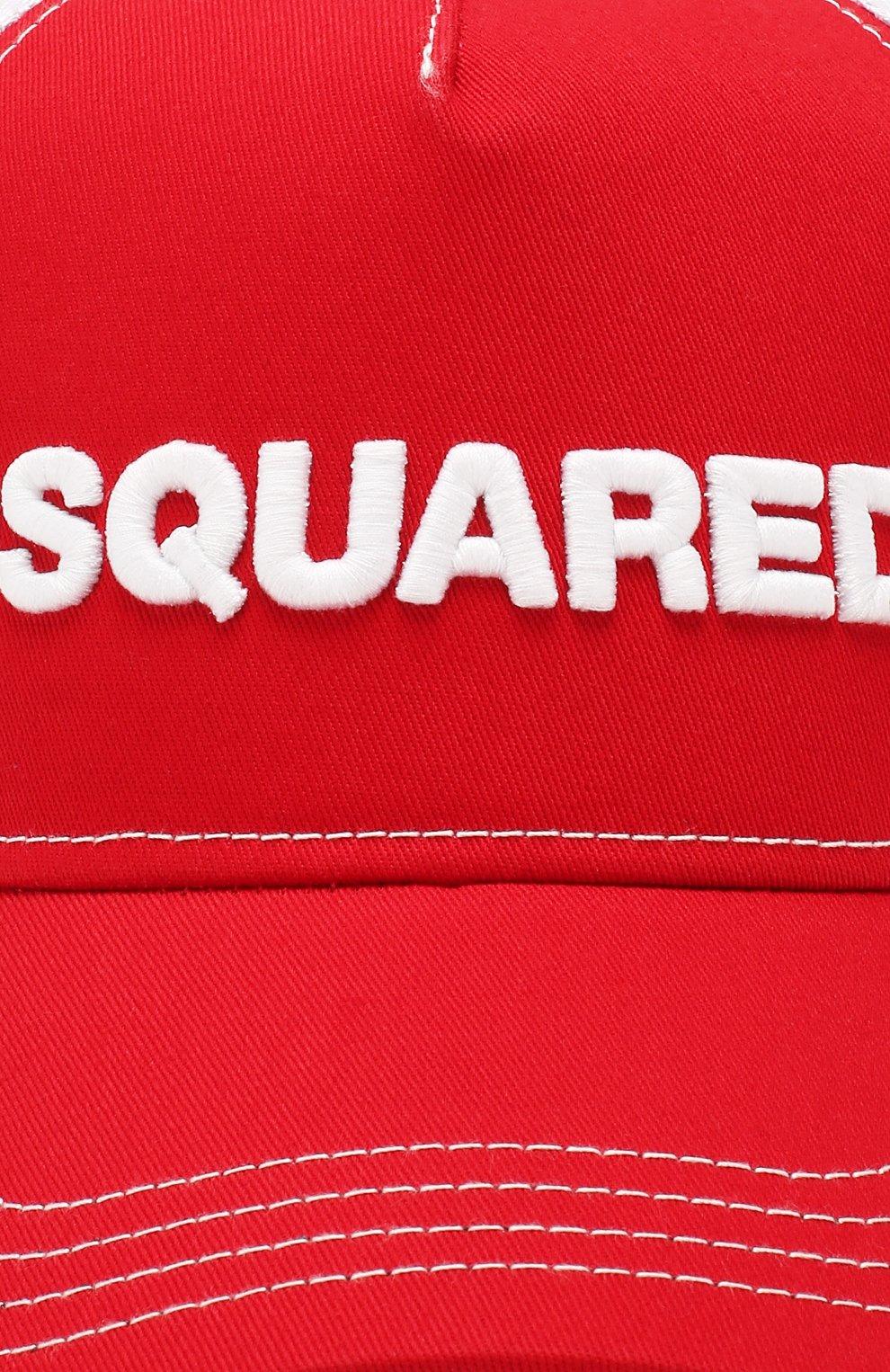 Женская бейсболка DSQUARED2 красного цвета, арт. BCM0028 13550001 | Фото 3