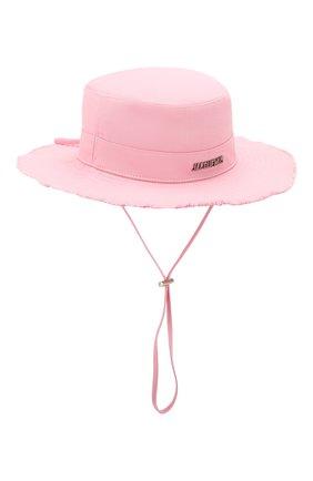 Женская хлопковая панама JACQUEMUS розового цвета, арт. 205AC02/69400 | Фото 1