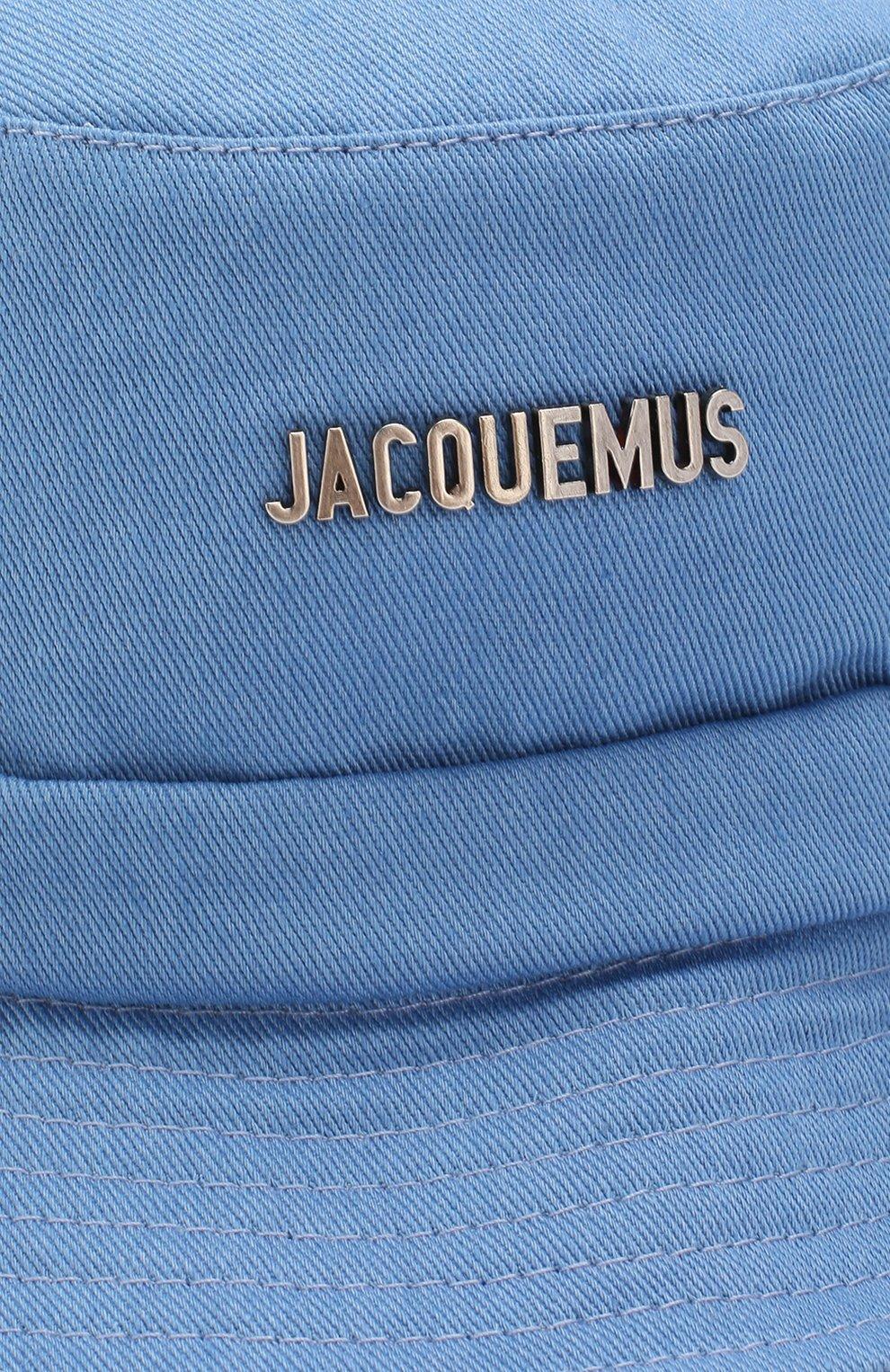Женская хлопковая панама JACQUEMUS голубого цвета, арт. 201AC26/69320 | Фото 3