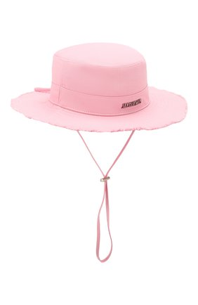 Женская хлопковая панама JACQUEMUS розового цвета, арт. 201AC03/73400 | Фото 1