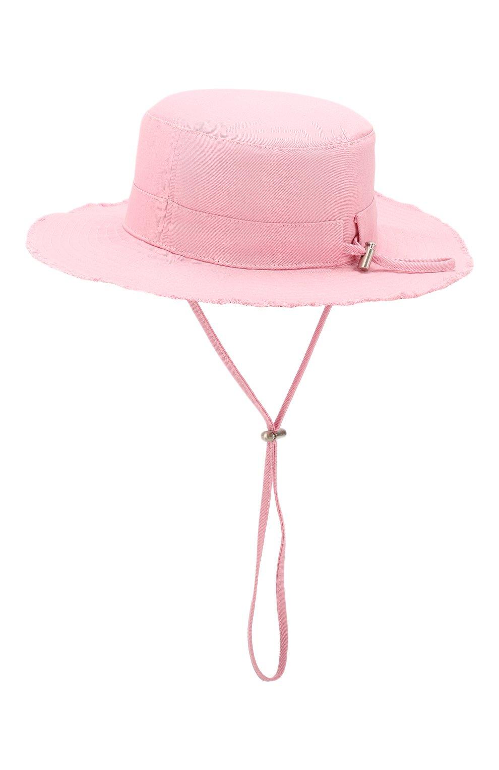 Женская хлопковая панама JACQUEMUS розового цвета, арт. 201AC03/73400 | Фото 2