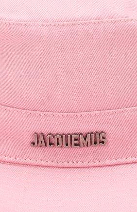 Женская хлопковая панама JACQUEMUS розового цвета, арт. 201AC03/73400 | Фото 3