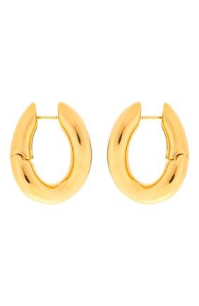 Женские серьги loop BALENCIAGA золотого цвета, арт. 542508/TZ16G | Фото 1