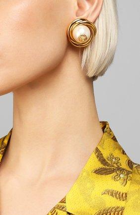 Женские клипсы GUCCI золотого цвета, арт. 605727/JCF27 | Фото 2