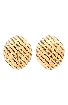 Женские клипсы BALENCIAGA золотого цвета, арт. 599455/TZ99J   Фото 1