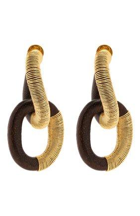 Женские серьги OSCAR DE LA RENTA темно-коричневого цвета, арт. S20J156DKB | Фото 1