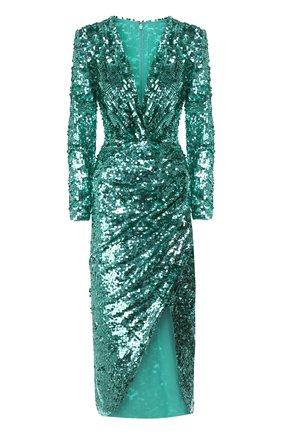 Женское платье с пайетками ZUHAIR MURAD зеленого цвета, арт. DRR20044/EMSE005 | Фото 1