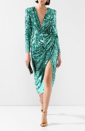 Женское платье с пайетками ZUHAIR MURAD зеленого цвета, арт. DRR20044/EMSE005 | Фото 2