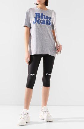 Женская хлопковая футболка DSQUARED2 серого цвета, арт. S72GD0226/S22146 | Фото 2