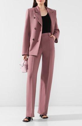 Женские брюки из вискозы LESYANEBO сиреневого цвета, арт. SS20/H-157   Фото 2