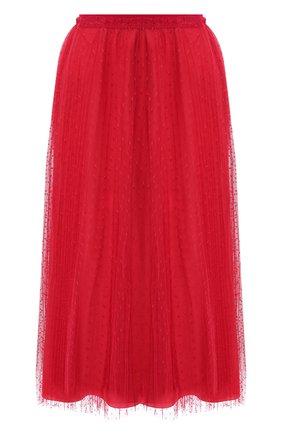 Женская юбка-миди REDVALENTINO красного цвета, арт. TR0RAC20/428 | Фото 1