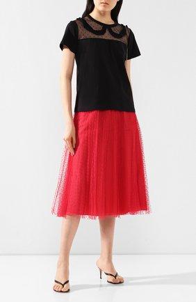 Женская юбка-миди REDVALENTINO красного цвета, арт. TR0RAC20/428 | Фото 2