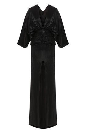 Женское платье-макси KALMANOVICH черного цвета, арт. SS2019 | Фото 1