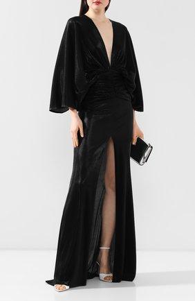 Женское платье-макси KALMANOVICH черного цвета, арт. SS2019 | Фото 2