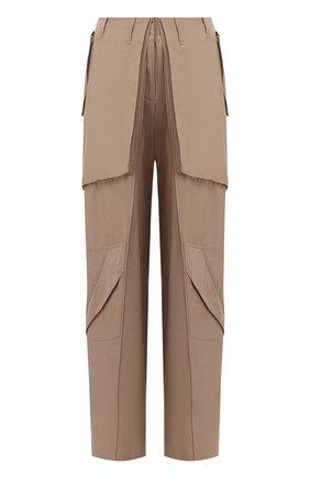 Женские брюки из вискозы BARBARA BUI бежевого цвета, арт. V1633VES | Фото 1