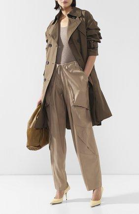 Женские брюки из вискозы BARBARA BUI бежевого цвета, арт. V1633VES | Фото 2
