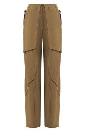 Женские брюки из вискозы BARBARA BUI хаки цвета, арт. V1633VES | Фото 1